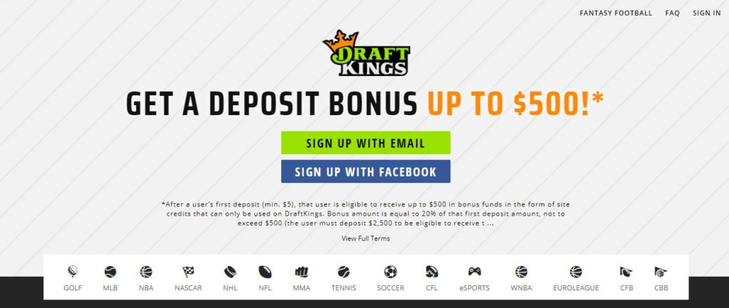 draftkings sign up image