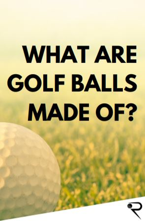what are golf balls made of main image