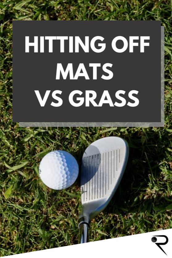 golf hitting mats vs grass main image